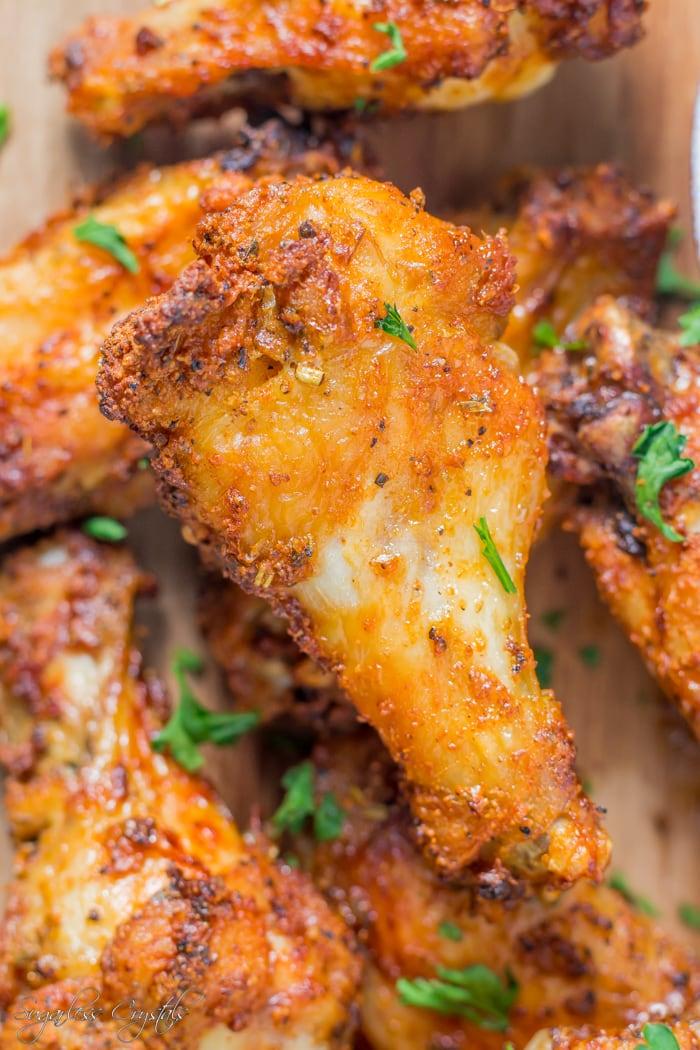 air fryer chicken wings with dry rub seasoning