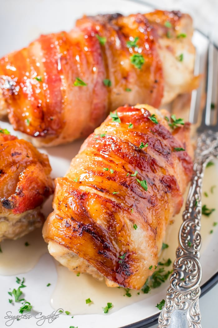 Bacon Wrapped Chicken Thighs