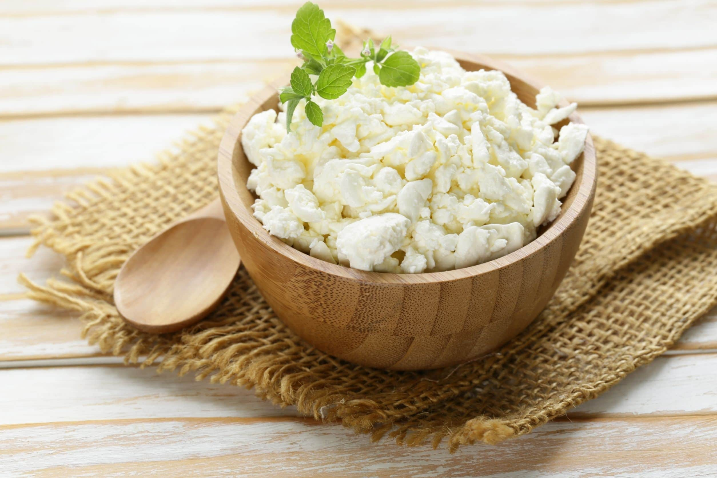 cottage cheese in bowl ready to include in keto meal plan