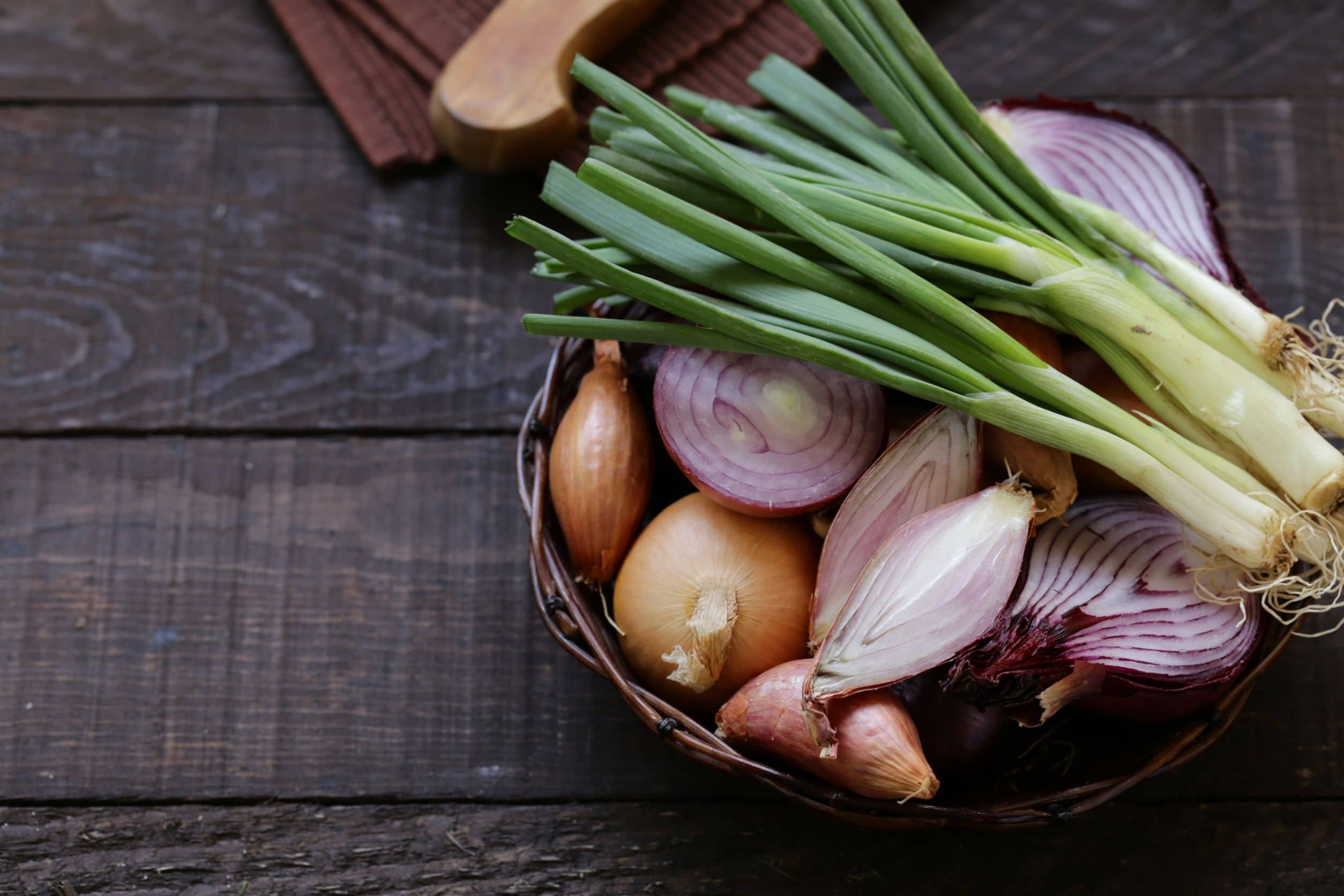 bowl with onions to use for keto recipes